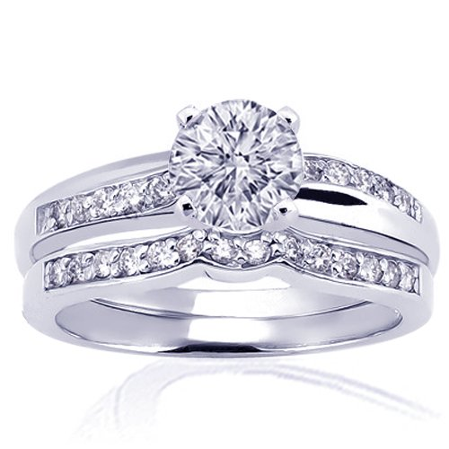 1.25 Ct Round Diamond Engagement Wedding Rings