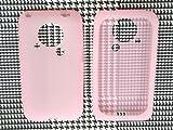 auスマートフォン シャープ IS03用 ソフトシリコンケース 桃色 ピンク is 03