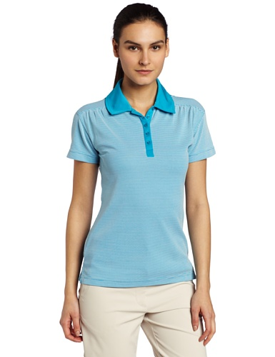 Fila Golf Sussex Textured Stripe Polo,Aqua,Medium