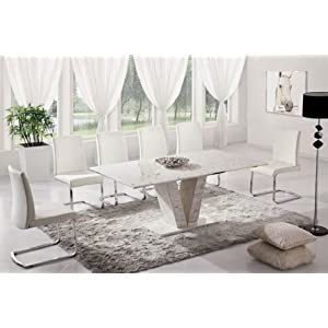 table manger table de salle manger hera marbre blanc. Black Bedroom Furniture Sets. Home Design Ideas