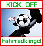 Kick off bicicleta-Timbre para bicicleta Fútbol geklingelt se con fussballschuh