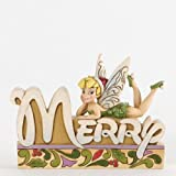 Jim Shore for Enesco Disney Traditions Tinker Bell Word Plaque, 4.5-Inch