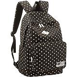 UZZO Cute Polka DOT Lightweight Canvas Teenagers School Bag Casual Hiking Daypack Travel Backpack for College Bookbag for Women Girls