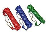 多目的ロープ 太さ: 8mm 長さ: 20m 引張強度300kgf アウトドア キャンプ 防災 選べる3色