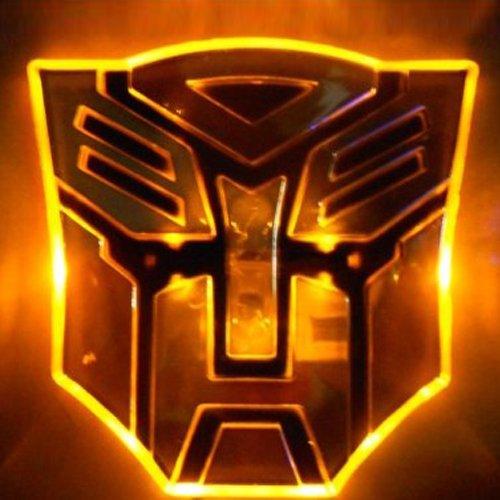 Edge Glowing Led Transformers Autobots Car Emblem - Amber