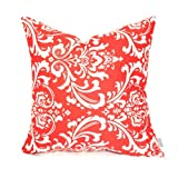 Majestic Home Goods Red French Quarter Pillow, Large