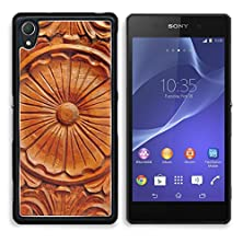 buy Msd Sony Xperia Z2 Aluminum Plate Bumper Snap Case Philippine Hardwood With Intricate Wood Carving 6402007