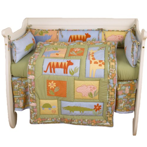 Cotton Tale Designs Tiger Tale 4 Piece Crib Bedding Set