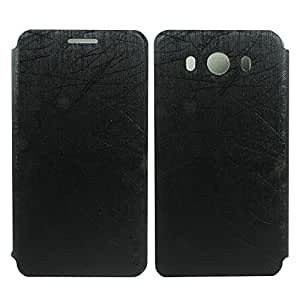 Heartly Premium Luxury PU Leather Flip Stand Back Case Cover For ZTE Grand S3 Dual Sim - Best Black