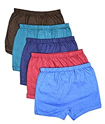 Elk Kids Baby Boys Plain Trouser Bloomer Innerwear 5 Piece Combo