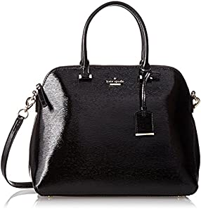 kate spade new york Cedar Street Patent Margot Top Handle Bag,Black,One Size