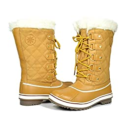 GW Women\'s 1560-3 Wheat Water Proof Snow Boots 9 M US