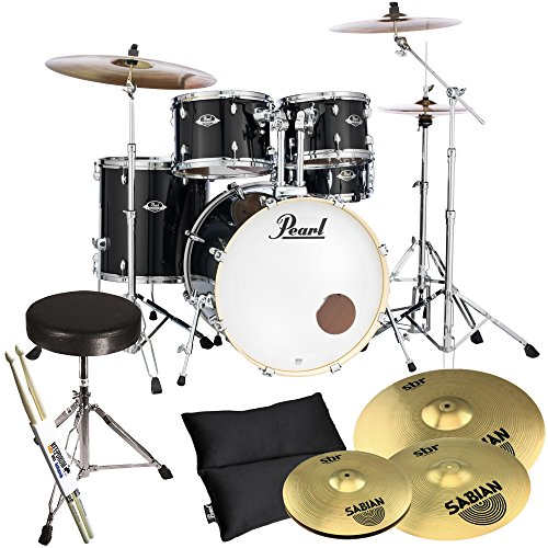 pearl-export-exx725z-c31-black-sabian-sbr-becken-set-drum-hocker-keepdrum-drumsticks