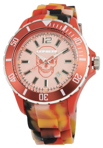 Cepheus Unisex Quartz Watch with Orange Dial Analogue Display and Orange Silicone Strap CPX01-094