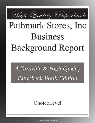 Pathmark Stores, Inc Business Background Report