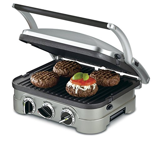 NEWNEW Cuisinart GR-4N 5-in-1 Griddler Grill Panini Grill Press Sandwish Maker (Reversible Stop Top Griddle compare prices)