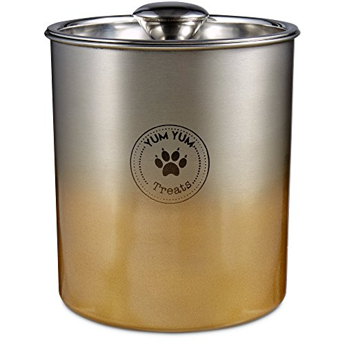 Harmony-Stainless-Steel-Gold-Ombre-Dog-Treat-Jar