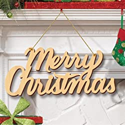 Merry Christmas Wooden MDF Laser Cut Plaque Decorative Letter Sign