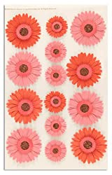 Martha Stewart Crafts 3 Dimensional Stickers Gerbera Daisies Pink By The Package