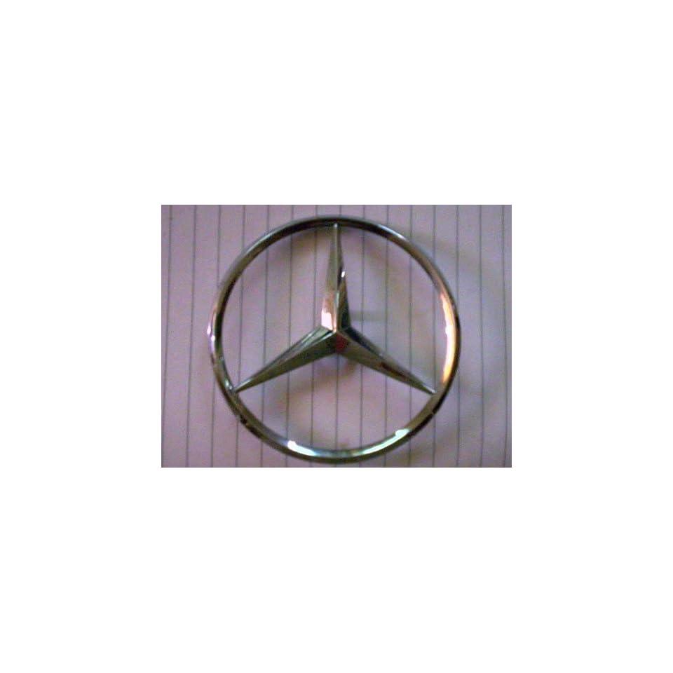 AMG Mercedes Benz M Class ML350 Emblem Logo Badge Nameplate Rear Trunk Lid Compartment OEM Chrome Genuine Part New 2005 2006 2007 2008 2009 Original 3 Point Star Germany Ml 350 Ml 350