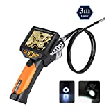 LCD Endoscope, Depstech® Waterproof Digital Borescope Videoscope with CMOS Sensor Inspection Camera, 3.5inch Color LCD Screen,4 Zoom Options --9.84 ft (3 m)