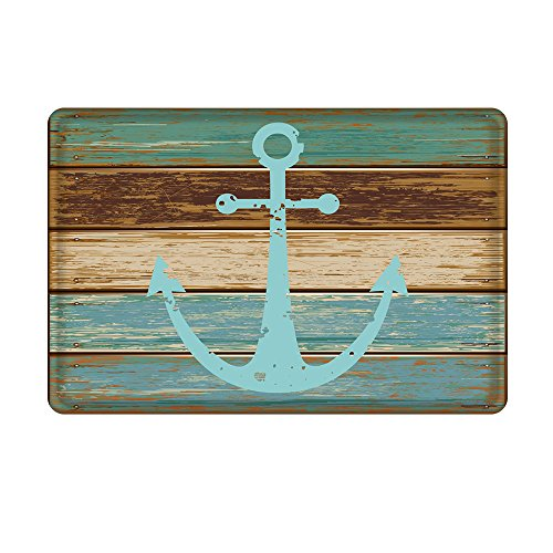 Uphome Vintage Retro Nautical Anchor Floor Mat Rug