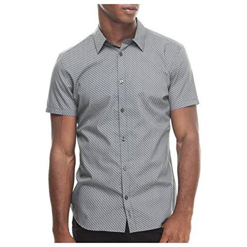 (カルバンクライン) Calvin Klein メンズ トップス ボタンダウンシャツ micro print poplin short sleeve woven 並行輸入品