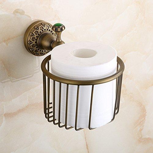 YanCui@ Porta carta igienica Stile europeo bagno rame antico cesto-stile carta titolare carta igienica portatovaglioli