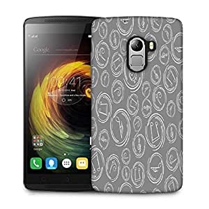 Snoogg Grey Music Designer Protective Phone Back Case Cover For Lenovo Vibe K4 Note