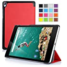 VSTN® Google / HTC Nexus 9 8.9 inch 2014 release version tablet Ultra-Thin Multi-angle Stand Slim Smart Cover Case with Auto sleep / wake Fuction [Lifetime warranty], only fit Google / HTC Nexus 9 (Red)