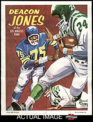 1970 Topps Poster # 8 Deacon Jones Los Angeles Rams (Football Card) Dean's Cards 6 - EX/MT