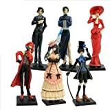 Black Butler 6 Anime Kuroshitsuji Characters Figure Set ~Free Pin With Purchase~