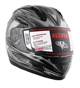 Vega Altura Helmet with Vantage Graphic (Black, X-Large)