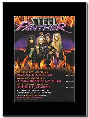 Steel Panther UK-Tour date Magazine Promo marzo 2010 su un supporto, colore: nero
