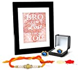 Tied Ribbons Rakshabadhan Gifts Combo (Finest Rakhi with Cufflinks and Photo Frame 27cm x 22cm )