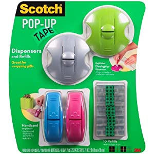 SCOTCH Pop-Up Tape Dispensers Plus 10 Refills Ideal For Gift-Wrapping