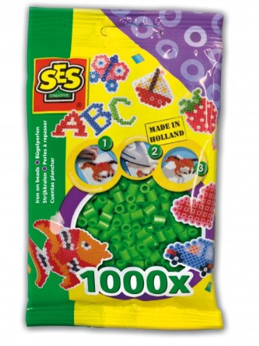SES Creative Iron On Beads, Green, 1000-Pack - 1