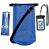 Rugged & Tough Waterproof Dry Bag 10L Dry Sack With Shoulder Strap, Bonus Cell Phone Waterproof Bag & A Storage...