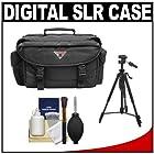 Precision Design 2000 Deluxe SLR Camera Bag/Case + Tripod for Canon EOS 70D, 6D, 5D Mark III, Rebel T3, T5i, SL1, Nikon D3200, D5200, D5300, D7100, D600, D800, Sony Alpha A65, A77, A99