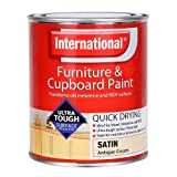 International Furniture & Cupboard Paint - Satin Antique Cream - 750ml