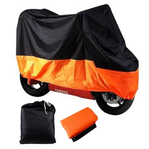Black Orange XXXLarge Bike Cover Fit up to 116
