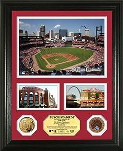 MLB St. Louis Cardinals Busch Stadium Infield Dirt Coin Showcase Photo Mint by Highland Mint