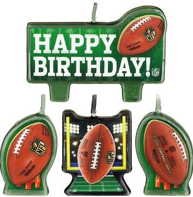 NFL Football Birthday Candles 4ct