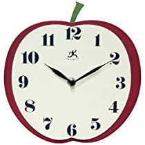 Infinity Instruments Apple Slice 9-Inch MDF Wall Clock