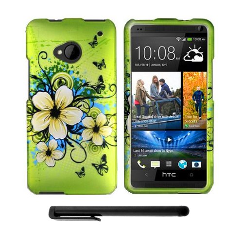 #1  Artistic Design HTC One (M7) Snap-On Protector Hard Cover Case + Bonus Long Arch 5.5