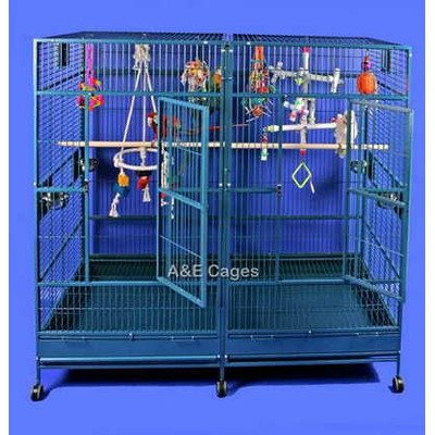 Buy Low Price Enormous Double Macaw Bird Cage (8040FLBlack)