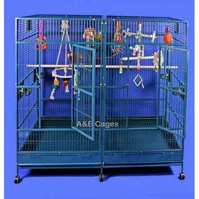 Buy Low Price Enormous Double Macaw Bird Cage (8040FLBlack)