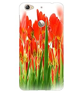 ColourCraft Beautiful Flowers Design Back Case Cover for LeEco Le 1S