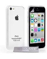 Yousave Accessories Coque en silicone gel pour iPhone5C Transparent