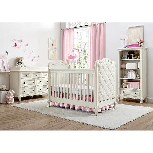 Bertini Tinsley 3-in-1 Upholstered Crib - Antique White 3